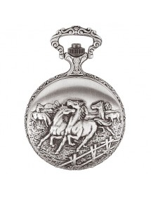 LAVAL pocket watch, palladium with lid and horse motif 755017 Laval 1878 119,00 €