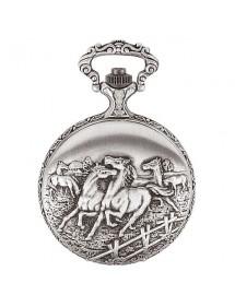 Montre de poche LAVAL en palladium avec couvercle motif chevaux 99,00€ 99,00€