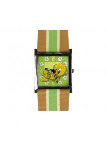 """Montre pour femme Looney Tunes \\""""Titi\\"""" - Vert et beige 25,00€ 25,00€"""