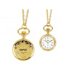 Montre pendentif palladium doré à chiffres romains et cœur 99,00€ 99,00€