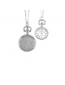 Montre pendentif pour femme motif fleur avec chaîne 750317 Laval 1878 99,00€