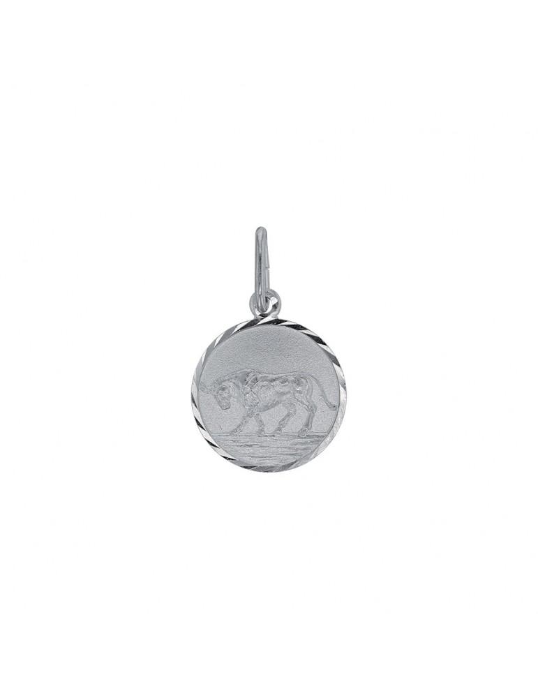 Pendentif signe du Zodiaque Taureau rond strié en argent rhodié 31610371 Laval 1878 19,90€