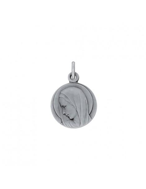 Médaille ronde de la Vierge Marie en argent rhodié 31610402 Laval 1878 45,00€