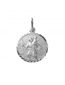 Saint-Christophe medal engraved outline in sterling silver 32,00 € 32,00 €