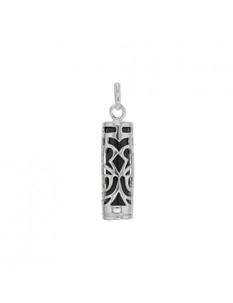 Pendentif Tiki Onyx symbole Force en argent rhodié 316112 Laval 1878 35,00€