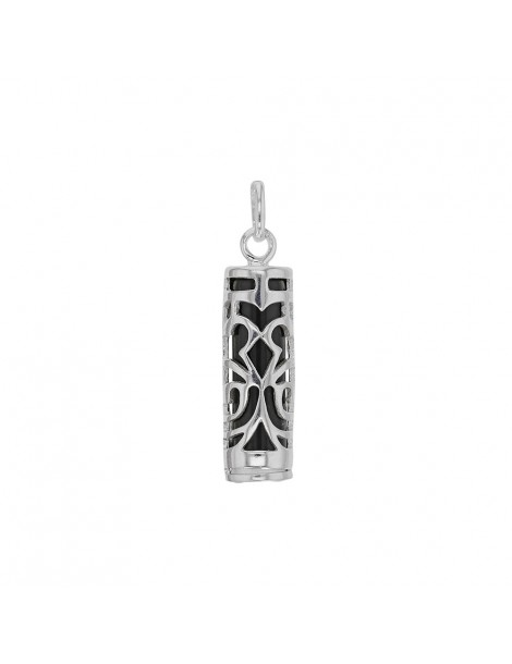 Tiki Onyx pendant symbol of Strength in rhodium silver 316112 Laval 1878 34,90€