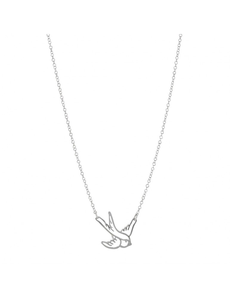 Necklace representing a swallow in rhodium silver 34,00 € 34,00 €