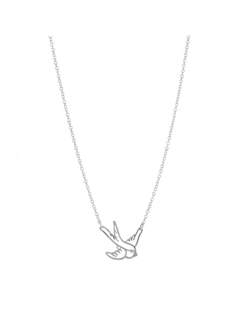 Necklace representing a swallow in rhodium silver 31710331 Laval 1878 34,00 €