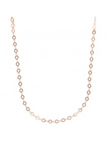 Long necklace with small openwork circles in rhodium silver rose gold 31710201R Laval 1878 52,00€
