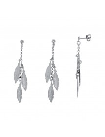 Beautiful earrings with rhodium silver feather 48,00 € 48,00 €