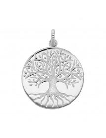 """Pendentif """"arbre de vie"""" gravé en argent rhodié 31610436 Laval 1878 59,90€"""