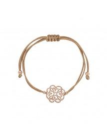 Silver arabesque bracelet with adjustable pink gilt cord 31812120DR Laval 1878 38,00€