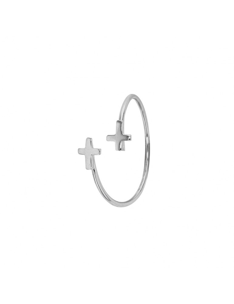 Ring with two crosses in sterling silver 311574 Laval 1878 22,00€