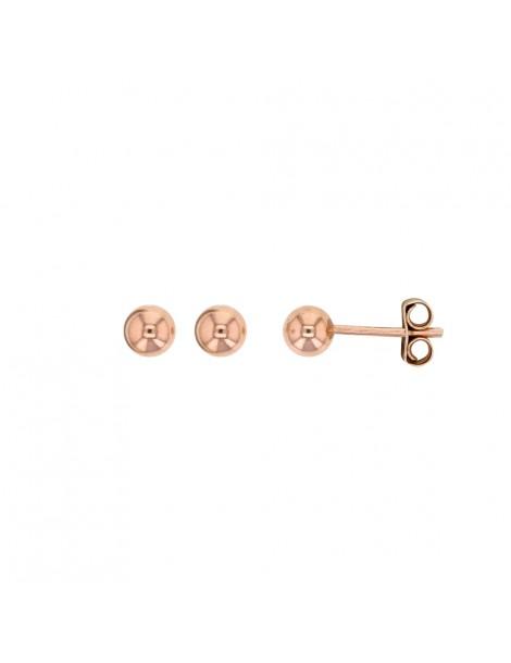 Boucles d'oreilles forme boule en argent doré rose 3131797 Laval 1878 12,00€