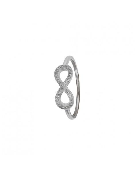 """Bague """"Symbole de l'Infini"""" argent rhodié et oxydes de zirconium 31114032 Laval 1878 48,00€"""