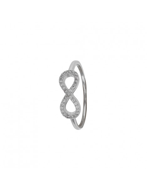 """Ring """"Symbol of Infinity"""" rhodium silver and zirconium oxides 31114032 Laval 1878 48,00€"""