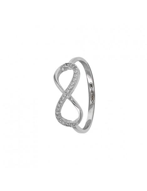 "Ring microserti ""Infinite"" rhodium silver and zirconium oxides 31114068 Laval 1878 42,00€"