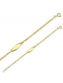 Bracelet identity oval marine mesh plate Gold Plated 48,00 € 48,00 €