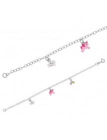 Bracelet pendant cloud, unicorn and rainbow sky rhodium silver 31812631 Suzette et Benjamin 54,00€