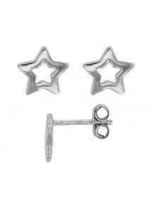Earrings rhodium silver openwork star 24,00 € 24,00 €