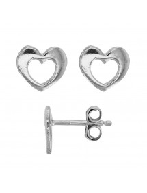 Earrings pierced heart rhodium silver 28,00 € 28,00 €