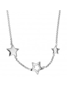 Children's necklace decorated with three stars in rhodium silver 31710575 Suzette et Benjamin 62,00 €