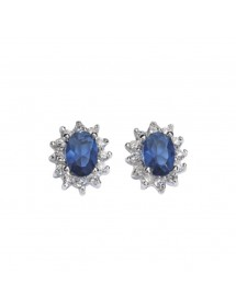 Earrings with jeweled blue tinted zirconium oxide 62,00€ 62,00€