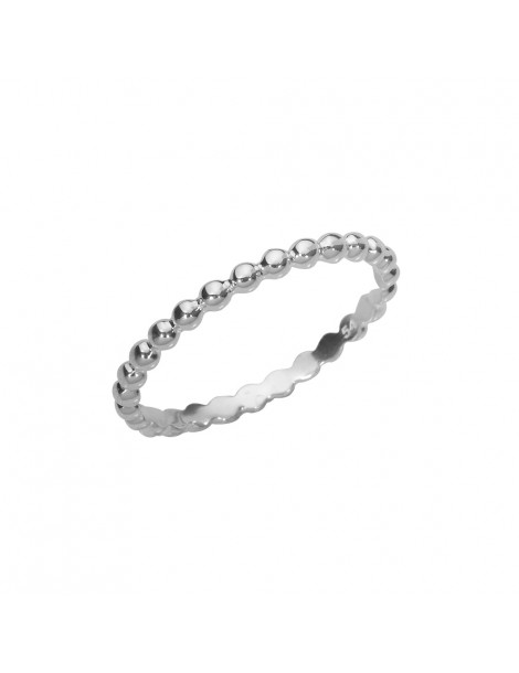 Ring formed of small balls assembled in rhodium silver 3111409 Laval 1878 29,90 €