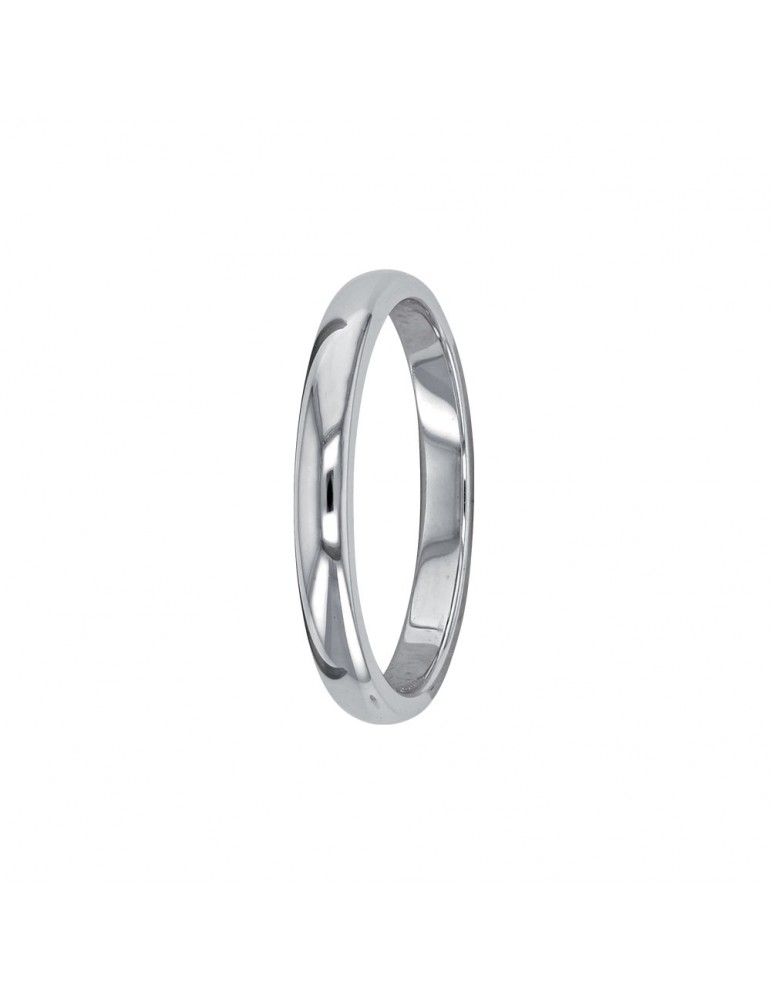 Simple alliance in rhodium silver 311571 Laval 1878 39,90€