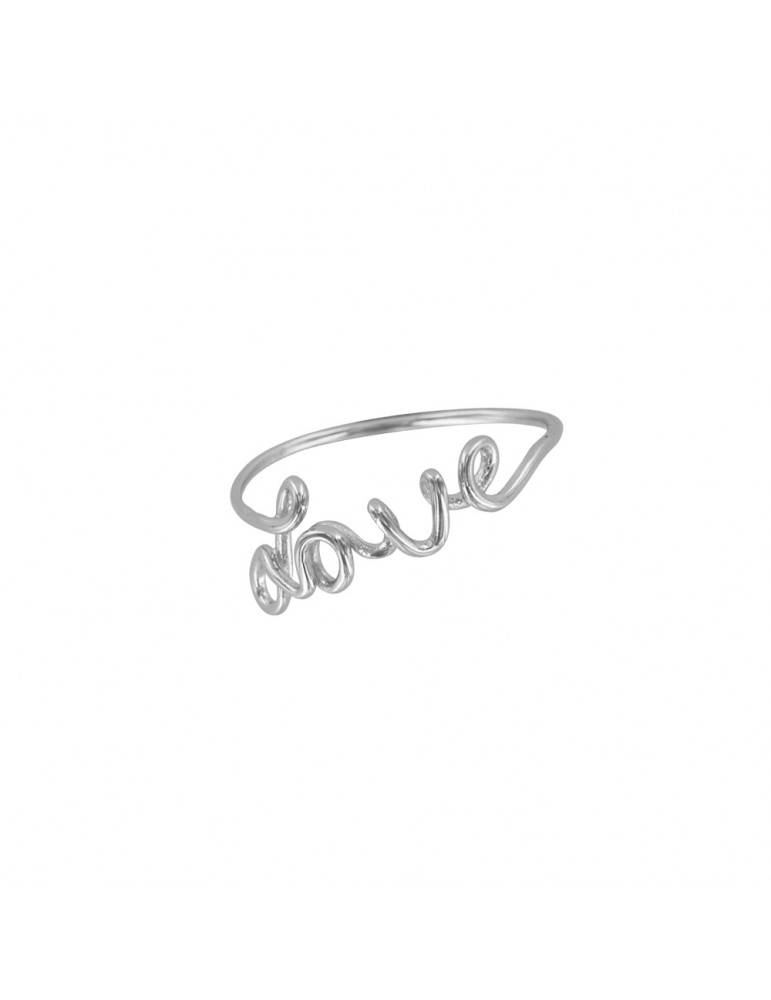 "Ring with ""Love"" in rhodium silver 31114030 Laval 1878 19,90 €"