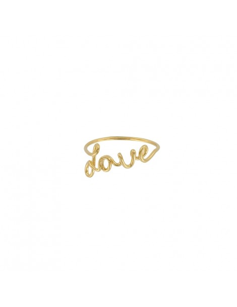"Ring for woman with ""Love"" in gold rhodium silver 31114030D Laval 1878 19,90 €"