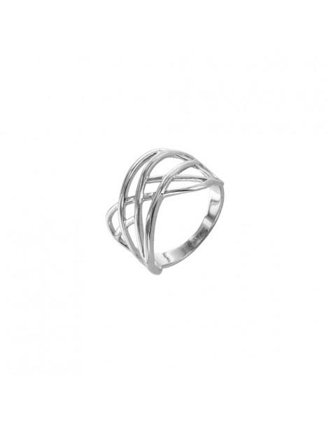 Cross motif ring in rhodium silver 3111390 Laval 1878 58,00€