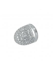 Anello ovale arabesco con lavorazione ovale in argento rodiato 54,00€ 54,00€