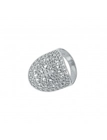 Arabesque openwork oval ring in rhodium silver 311555 Laval 1878 54,00€
