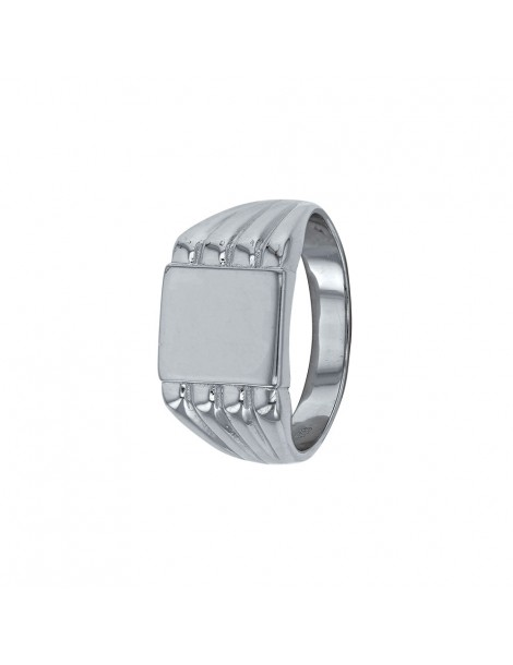 Square signet ring in rhodium silver 311443 Laval 1878 89,00€
