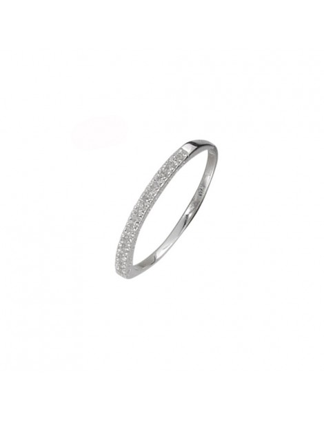 Half-turn alliance in rhodium silver decorated with zirconium oxides 3111291 Laval 1878 32,00 €