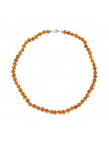 Necklace with round amber beads silver clasp 3170541 Nature d'Ambre 52,00 €