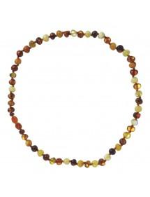 Collier bébé en pierres d'ambre rondes avec fermoir clip 39,90€ 39,90€