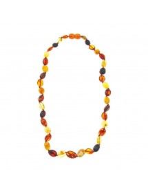 Amber necklace with elongated stones, amber screw clasp 3170538 Nature d'Ambre 68,90 €