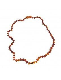Necklace in small cognac amber stones, screw clasp 31710465 Nature d'Ambre 56,90 €