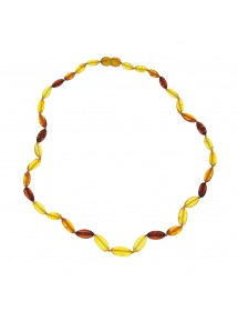 Necklace adorned with large amber stone, screw clasp 31710467 Nature d'Ambre 62,00 €