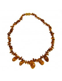 Amber necklace with 5 large stones with screw clasp 31710468 Nature d'Ambre 54,00 €