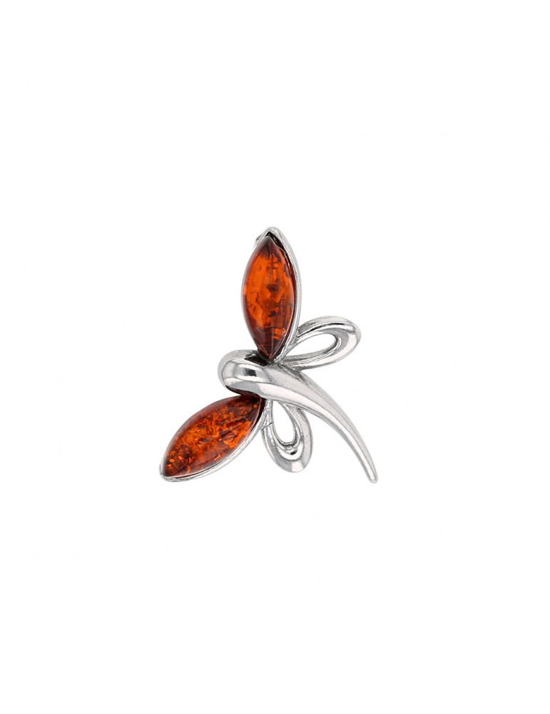 Dragonfly pendant in cognac amber and rhodium silver 31610471RH Nature d'Ambre 36,00€