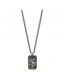 Rectangular shape necklace with cut steel wheels 317415 One Man Show 59,90 €