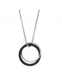 Collier acier doubles ronds, un avec des paillettes noires et un acier 86,00€ 86,00€