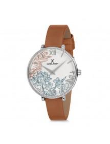 Montre design fleuri Daniel Klein avec bracelet cuir marron 69,90€ 69,90€