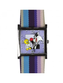 "Looney Tunes Women's Watch ""Titi and Grosminet"" - Blue and Purple 25,00 € 25,00 €"