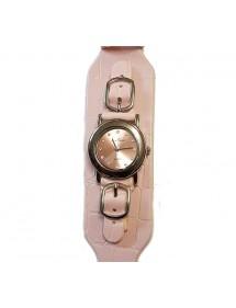 Montre dame Jean Patrick bracelet façon croco rose 19,90€ 19,90€