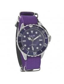 Montre élégance Lady Lili boitier en acier, bracelet tissus violet 752672VI Lady Lili 39,90€