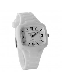 Montre One Man Show boitier rectangle, bracelet en silicone blanc 29,90 € 29,90 €